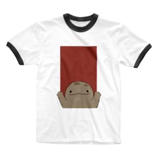 ばんざーい!オオサンショウウオ Ringer T-shirts