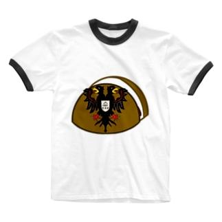 お饅頭国の紋章 Ringer T-shirts