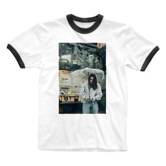 ひとりぼっち Ringer T-shirts