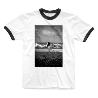 少女 Ringer T-shirts