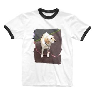 うちのあいけん Ringer T-shirts