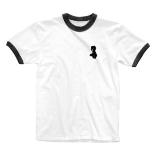 かなしい子ぐま Ringer T-shirts