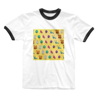 CUTE MONSTERS Ringer T-shirts