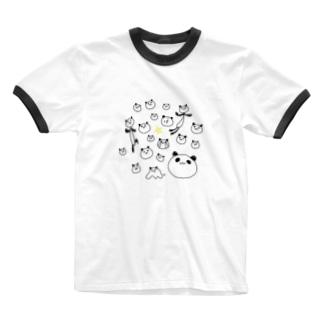 凡凡ちゃんがいっぱい。 Ringer T-shirts