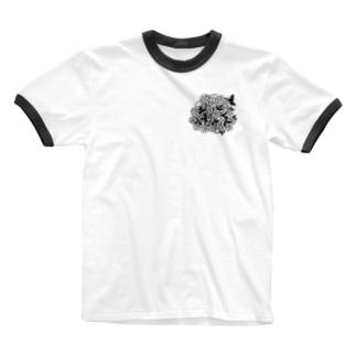 ばらの花束 Ringer T-shirts