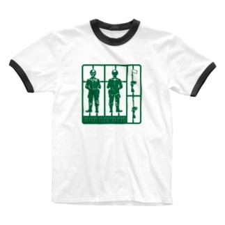 降伏! Ringer T-shirts