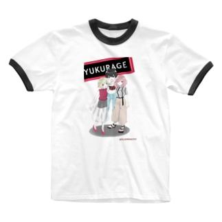 遊海月シャツ Ringer T-shirts