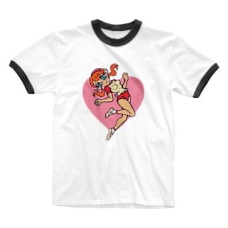 ニョリ画のいろいろ Ringer T-shirts