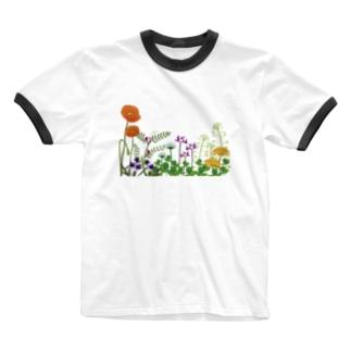 野の花 Ringer T-shirts