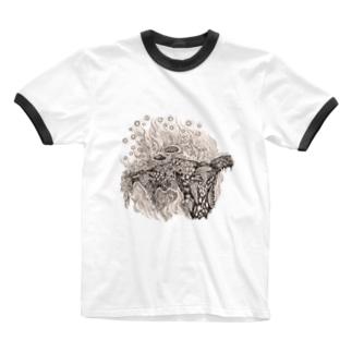 菌類の森 Ringer T-shirts