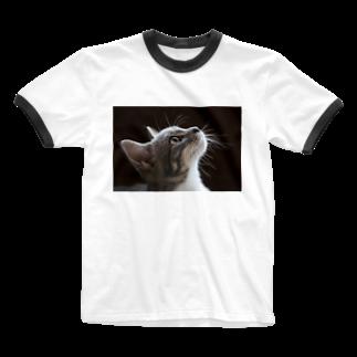 Aiko Nakanoの雨の朝、仔猫の瞳を通せば何でも新鮮。 Ringer T-shirts