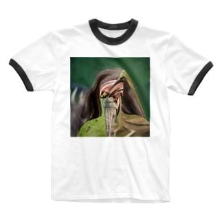 Green man  Ringer T-shirts