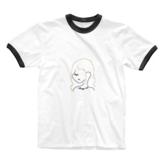 """ Always me "" Girl Ringer T-shirts"