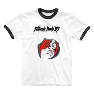 ゾンビパンダです Ringer T-shirts