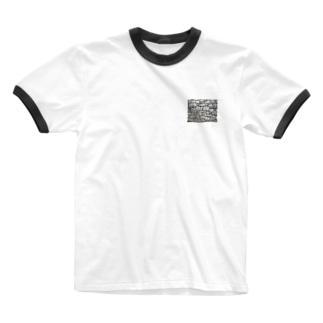石垣 打込接 Stone wall in Uchikomi-hagi style  Ringer T-shirts