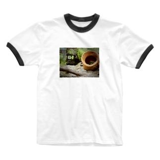 ヤマトヌマエビストレッチ Ringer T-shirts