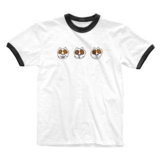 にらめっこ ちゃいろ Ringer T-shirts