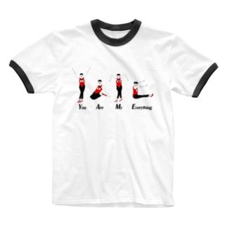 オジサンシリーズ Ringer T-shirts