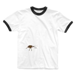 シギゾウムシだぞ! Ringer T-shirts