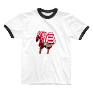 豆柴なぎなぎ Ringer T-shirts