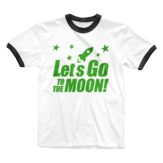 Let's go to the moon! Ringer T-shirts