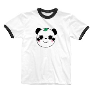 パンダヌキ Ringer T-shirts