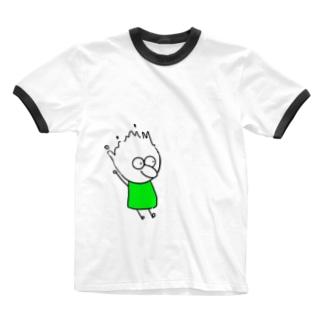 チビィズ(緑) Ringer T-shirts