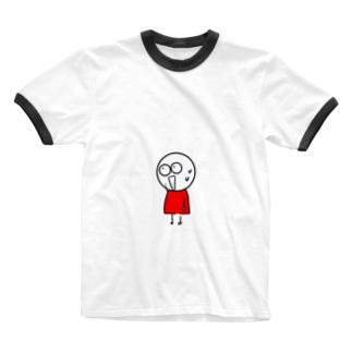 チビィズ(赤) Ringer T-shirts