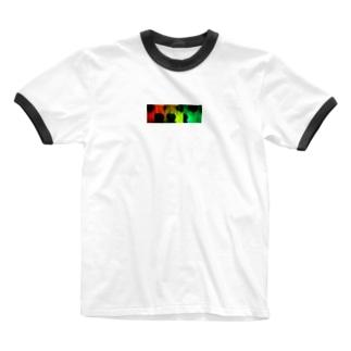 バーニング犬 Ringer T-shirts