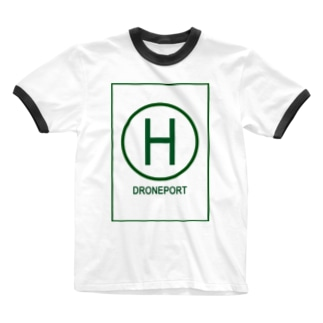 ドローンポートグリーン Ringer T-shirts