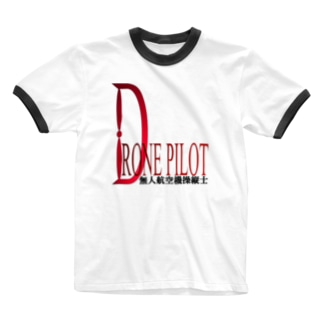 クールな赤い彗星ドローンパイロットへ Ringer T-shirts
