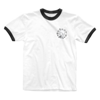 三つ編みの少女 Ringer T-shirts