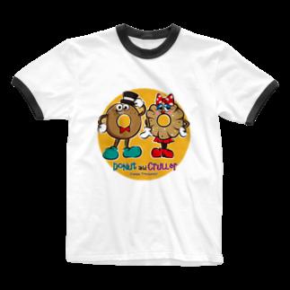 Creepy Treasures!のDonut and Cruller Ringer T-shirts