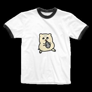 Sizimi_Kusodasaのかわいいハムスター Ringer T-shirts