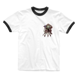 エイリアン通話中 Ringer T-shirts