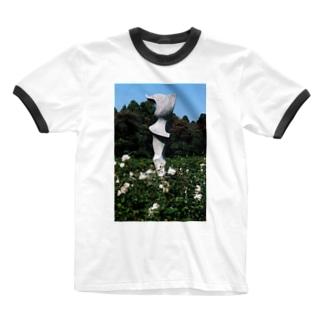 Dreamscape(天空の風)のホワイトガーデン Ringer T-shirts