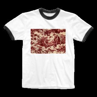 J. Jeffery Print Galleryのトワルドジュイ Toile de Jouy Ringer T-shirts