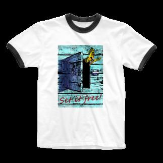 令和堂のSet it free! Ringer T-shirts