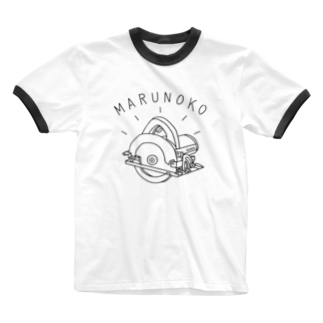 AliviostaのDIY丸ノコ 電動工具イラスト 大工 Ringer T-shirts