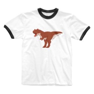 カルノタウルス Ringer T-shirts
