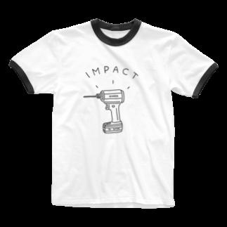 AliviostaのDIYインパクトドライバー 電動工具イラスト 大工 Ringer T-shirts