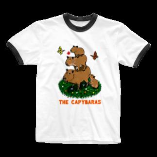 令和堂のthe capybaras Ringer T-shirts
