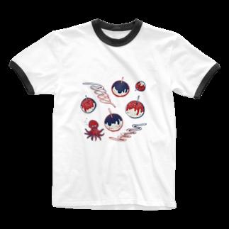 akaneyabushitaの【日本レトロ#20】たこ焼き Ringer T-shirts
