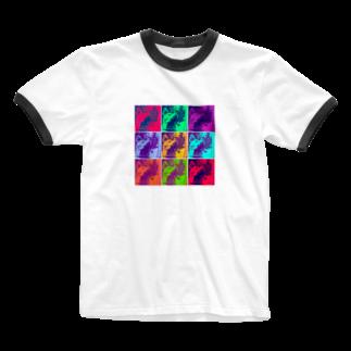 chanleleのSAIGO-KEN Ringer T-shirts