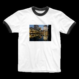 ひつじとねこの丸の内 Ringer T-shirts