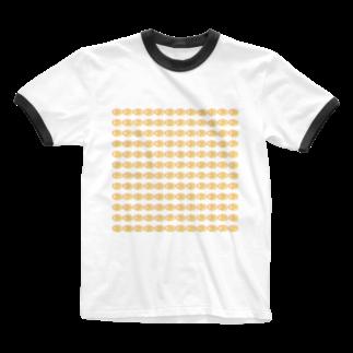 水草のハイパーオレンジ玉 Ringer T-shirts