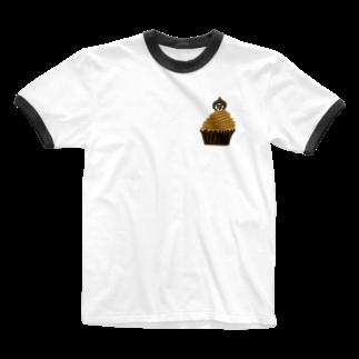 Venizakuraのもんぶらんくん Ringer T-shirts