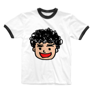 つきタンの月タン似顔絵 Ringer T-shirts