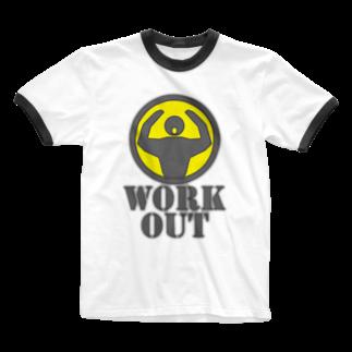 AURA_HYSTERICAのWorkout Ringer T-shirts