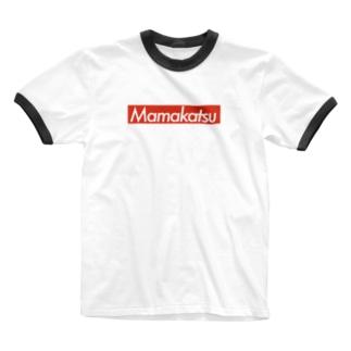 ママ活Tシャツ Ringer T-shirts
